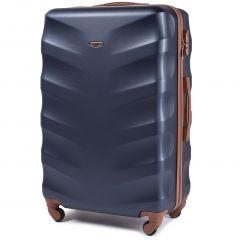 Cestovní kufr WINGS 402 ABS BLUE velký L