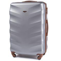 Cestovní kufr WINGS 402 ABS SILVER velky L