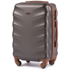 Cestovní kufr WINGS 402 ABS COFFEE malý S