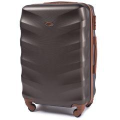 Cestovní kufr WINGS 402 ABS COFFEE střední M