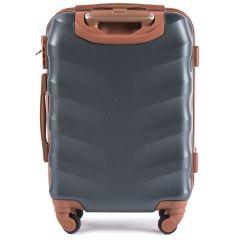 Cestovní kufr WINGS 402 ABS DARK GREEN malý xS