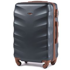 Cestovní kufr WINGS 402 ABS DARK GREEN střední M
