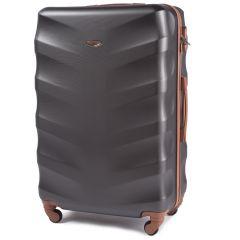 Cestovní kufr WINGS 402 ABS DARK GREY velký L