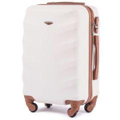 Cestovní kufr WINGS 402 ABS DIRTY WHITE malý S