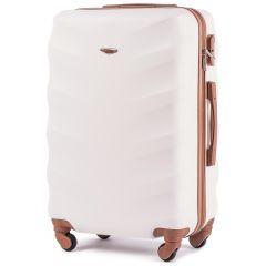 Cestovní kufr WINGS 402 ABS DIRTY WHITE střední M