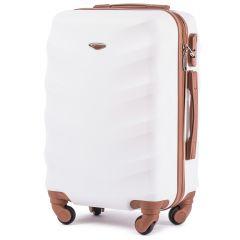 Cestovní kufr WINGS 402 ABS DIRTY WHITE malý xS