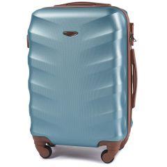 Cestovní kufr WINGS 402 ABS SILVER BLUE malý S