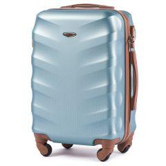 Cestovní kufr WINGS 402 ABS SILVER BLUE malý xS