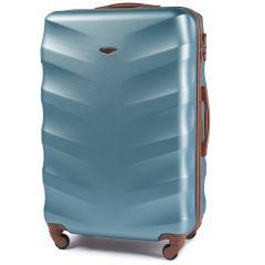 Cestovní kufr WINGS 402 ABS SILVER BLUE velky L