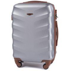 Cestovní kufr WINGS 402 ABS SILVER malý S