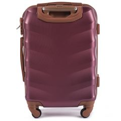 Cestovní kufr WINGS 402 ABS WINE RED malý S E-batoh