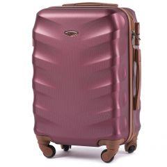Cestovní kufr WINGS 402 ABS WINE RED malý xS