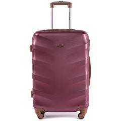 Cestovní kufr WINGS 402 ABS WINE RED střední M E-batoh
