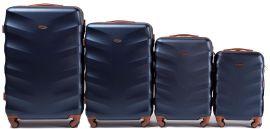 Cestovní kufry sada WINGS 402 ABS BLUE L,M,S,xS