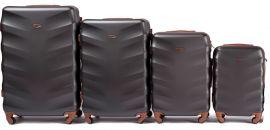 Cestovní kufry sada WINGS 402 ABS DARK GREY L,M,S,xS