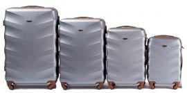 Cestovní kufry sada WINGS 402 ABS SILVER L,M,S,xS