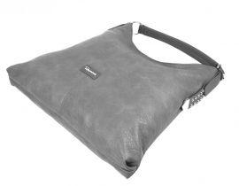 Moderní velká šedá kombinovaná dámská kabelka 3753-DE Demra E-batoh