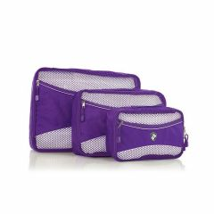 Heys Eco Packing Cube 3pc Set II Purple
