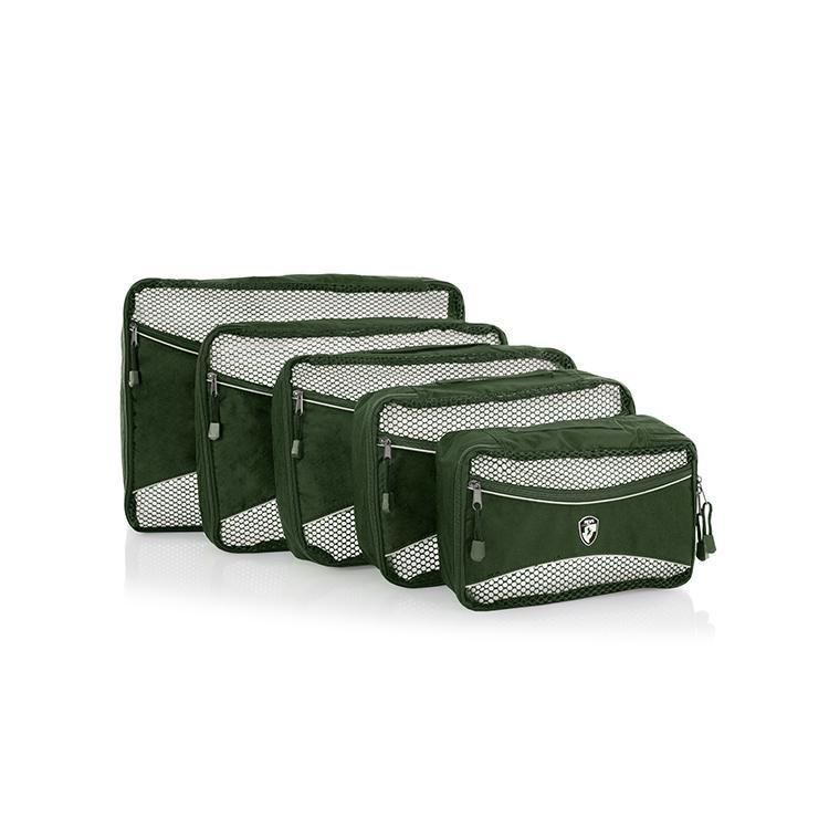 Heys Eco Packing Cube 5pc Set II Green E-batoh