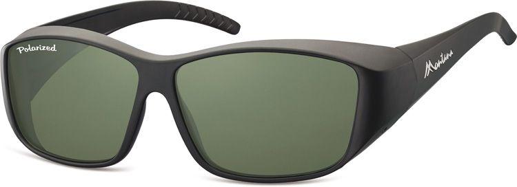 Polarizační brýle Montana na dioptrické brýle se zelenou čočkou v pouzdru E-batoh