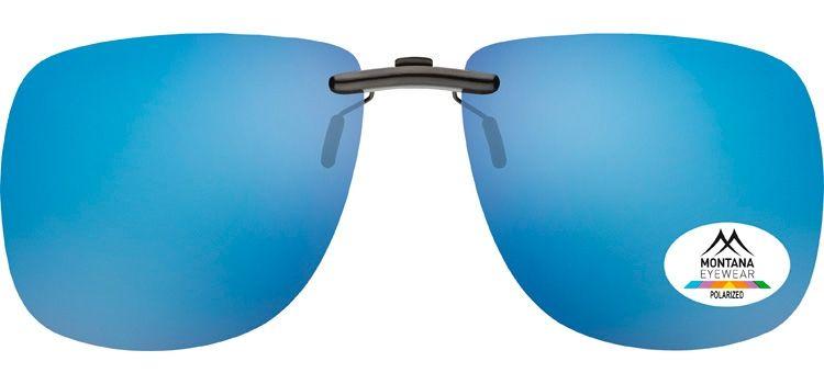Polarizační KLIP L NA BRÝLE se modro- zrcadlovou čočkou + pouzdro E-batoh