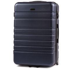 Cestovní kufr WINGS 5186 ABS 2w  DARK BLUE velký L