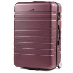 Cestovní kufr WINGS 5186 ABS 2w  BURGUNDY velký L