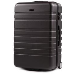 Cestovní kufr WINGS 5186 ABS 2w  DARK GREY velký L