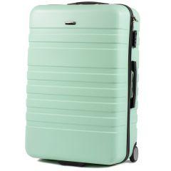 Cestovní kufr WINGS 5186 ABS 2w  LIGHT GREEN velký L