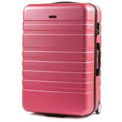 Cestovní kufr WINGS 5186 ABS 2w  ROSE RED velký L