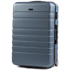 Cestovní kufr WINGS 5186 ABS 2w  SILVER BLUE velký L