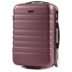 Cestovní kufr WINGS 5186 ABS 2w  BURGUNDY malý S