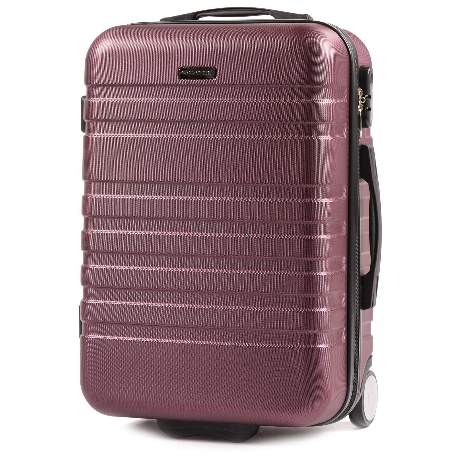 Cestovní kufr WINGS 5186 ABS 2w BURGUNDY malý S E-batoh