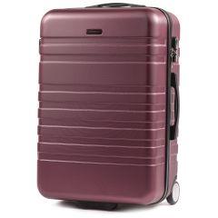 Cestovní kufr WINGS 5186 ABS 2w  BURGUNDY střední M