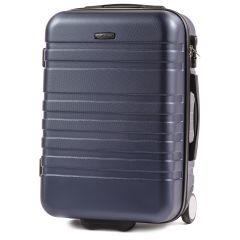 Cestovní kufr WINGS 5186 ABS 2w  DARK BLUE malý S