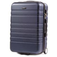 Cestovní kufr WINGS 5186 ABS 2w  DARK BLUE střední M