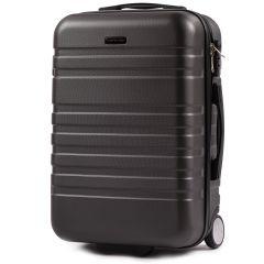 Cestovní kufr WINGS 5186 ABS 2w  DARK GREY malý S