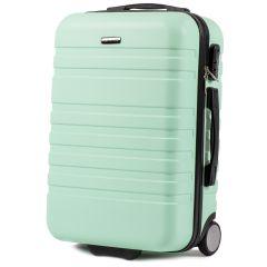 Cestovní kufr WINGS 5186 ABS 2w  LIGHT GREEN malý S