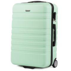 Cestovní kufr WINGS 5186 ABS 2w  LIGHT GREEN střední M