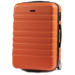 Cestovní kufr WINGS 5186 ABS 2w  ORANGE střední M