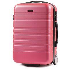 Cestovní kufr WINGS 5186 ABS 2w  ROSE RED malý S