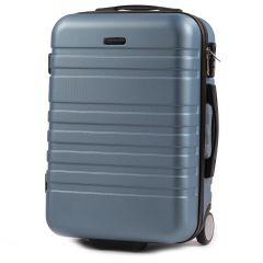 Cestovní kufr WINGS 5186 ABS 2w  SILVER BLUE malý S