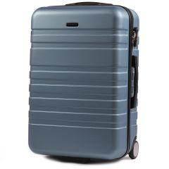 Cestovní kufr WINGS 5186 ABS 2w  SILVER BLUE střední M