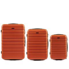 Cestovní kufry sada WINGS 5186 ABS 2w  ORANGE L,M,S