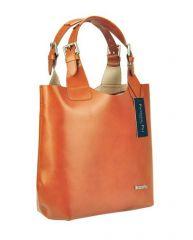 Modrá kožená dámská kabelka Patrizia Piu E-batoh