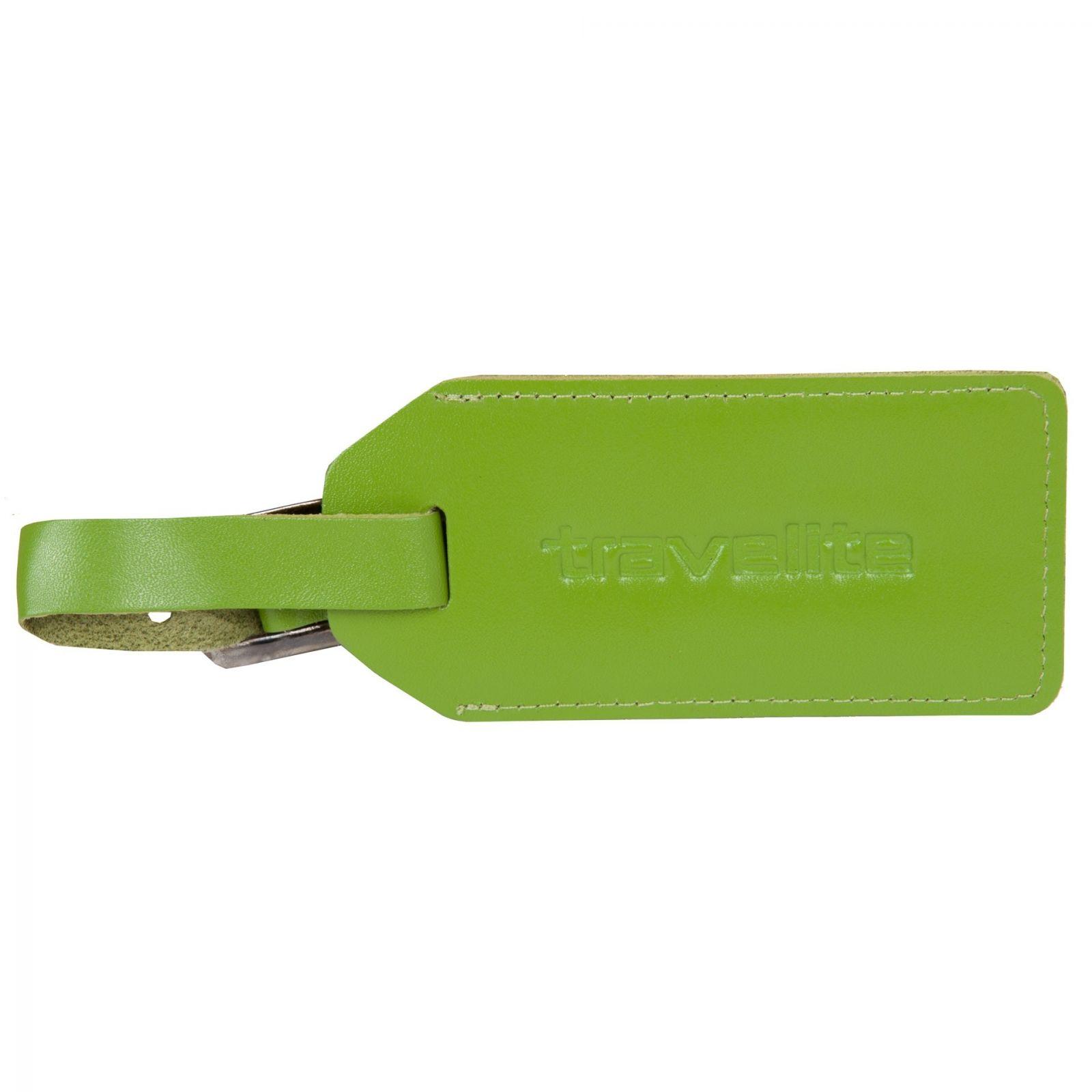 Travelite kožená jmenovka II zelená E-batoh