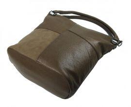 Kombinovaná dámská kabelka NH8028 jílově hnědá NEW BERRY E-batoh