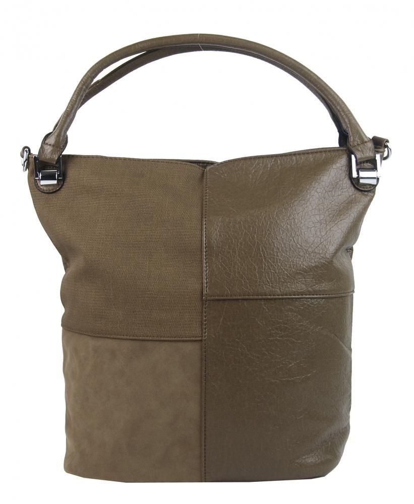 Kombinovaná dámská kabelka NH8028 jílově hnědá