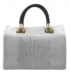 Kožená dámská kabelka Marianne světle šedá
