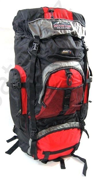 Cestovní KROSNA - ROLAN CB-902 85L červenočerná, batoh na hory E-batoh
